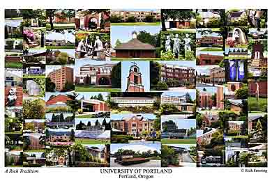 University of Portland Campus Art Print