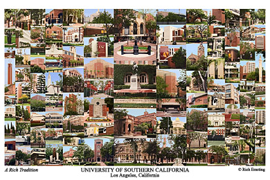 University of Southern California Campus Art Print