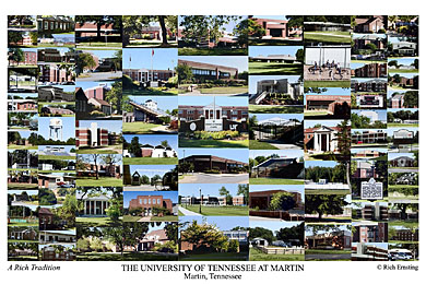 University of Tennessee at Martin Campus Art Print
