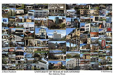 University of Texas at San Antonio Campus Art Print