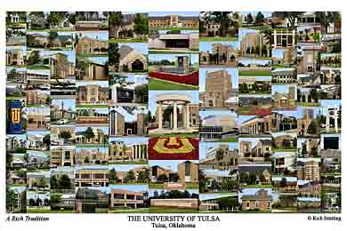 University of Tulsa Campus Art Print