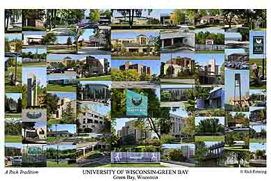 University of Wisconsin-Green Bay Campus Art Print