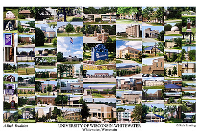 University of Wisconsin-Whitewater Campus Art Print