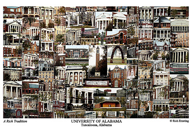 University of Alabama Campus Art Print
