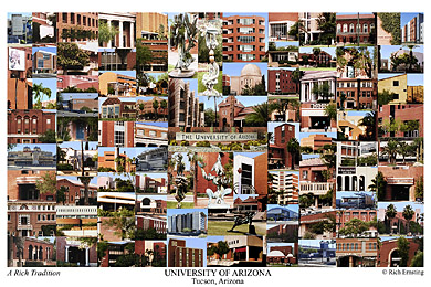 University of Arizona Campus Art Print