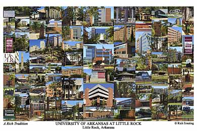 University of Arkansas at Little Rock Campus Art Print