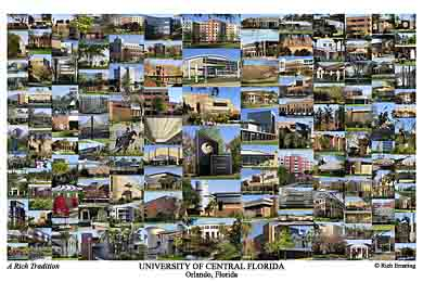 University of Central Florida Campus Art Print