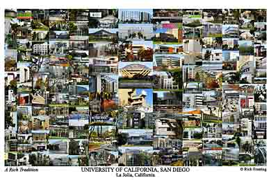 University of California, San Diego Campus Art Print