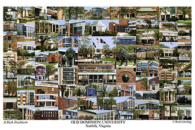 Old Dominion University Campus Art Print