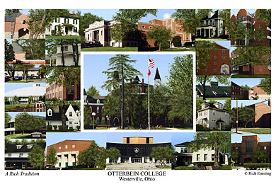 Otterbein College Campus Art Print