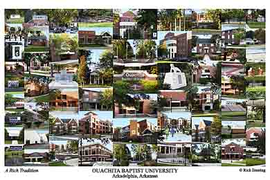 Ouachita Baptist University Campus Art Print