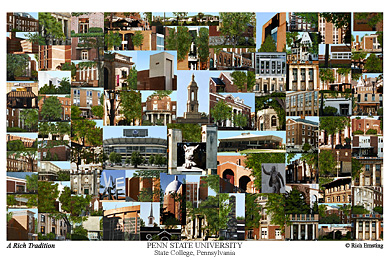 Penn State University Campus Art Print
