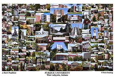 Purdue University Campus Art Print