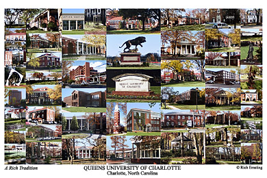 Queens University of Charlotte Campus Art Print