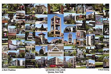 Queens College, CUNY Campus Art Print
