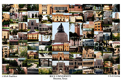 Rice University Campus Art Print
