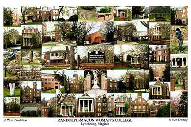 Randolph-Macon Woman's College Campus Art Print