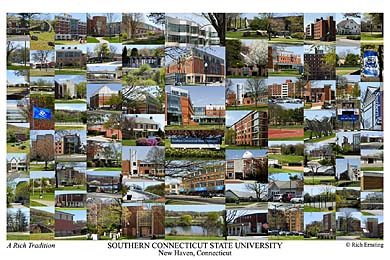 Southern Connecticut State University Campus Art Print