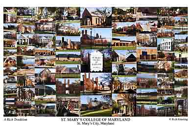 St. Mary's College of Maryland Campus Art Print