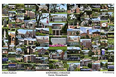 Stonehill College Campus Art Print