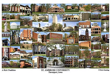St. Ambrose College Campus Art Print