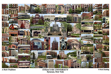 Syracuse University Campus Art Print