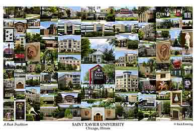 Saint Xavier University Campus Art Print