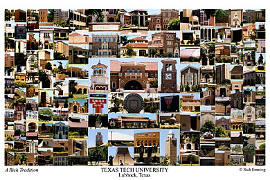 Texas Tech University Campus Art Print