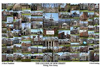 The College of New Jersey Campus Art Print