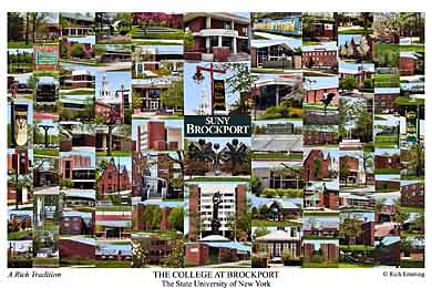 The College at Brockport Campus Art Print