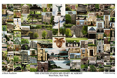 United States Military Academy Campus Art Print