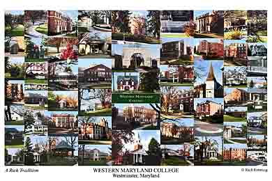 Western Maryland College Campus Art Print