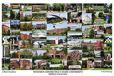 Western Connecticut State University Campus Art Print