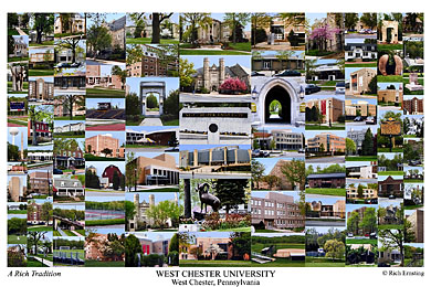 West Chester University Campus Art Print