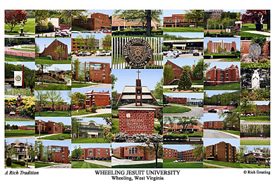 Wheeling Jesuit University Campus Art Print