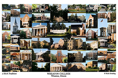 Wheaton College Campus Art Print