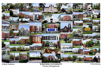 Widener University Campus Art Print