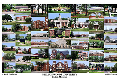 William Woods University Campus Art Print