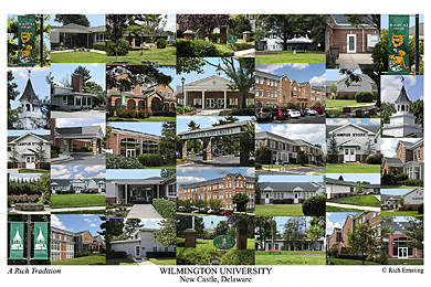 Wilmington University Campus Art Print