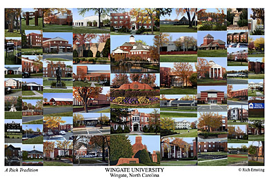 Wingate University Campus Art Print
