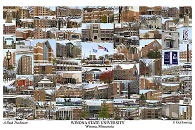 Winona State University Campus Art Print