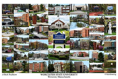 Worcester State University Campus Art Print