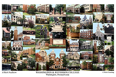 Washington and Jefferson College Campus Art Print