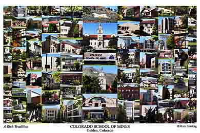 Colorado School of Mines Campus Art Print
