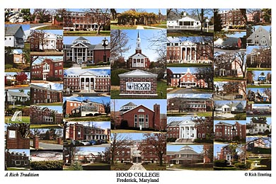 Hood College Campus Art Print