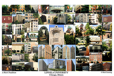 Loyola University Chicago Campus Art Print
