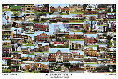 Alvernia University Campus Art Print