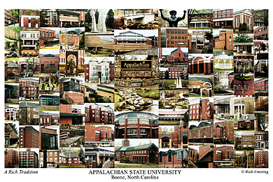Appalachian State University Campus Art Print