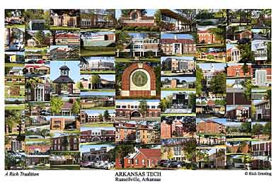 Arkansas Tech University Campus Art Print