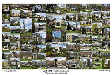 Assumption College Campus Art Print
